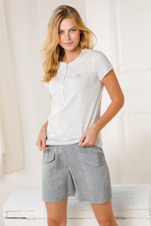 Coveri Dámský domácí komplet Pantalone šedý
