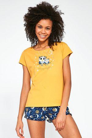 Cornette Ženy Tepláky na spaní - Dámské pyžamo Owls