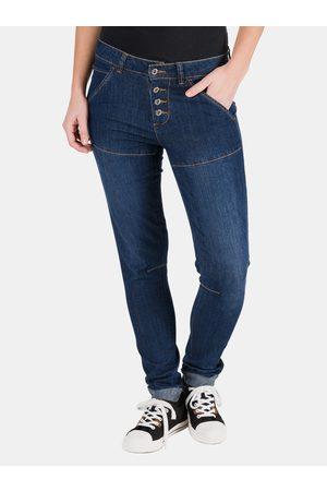 sam 73 Tmavě modré dámské slim fit džíny