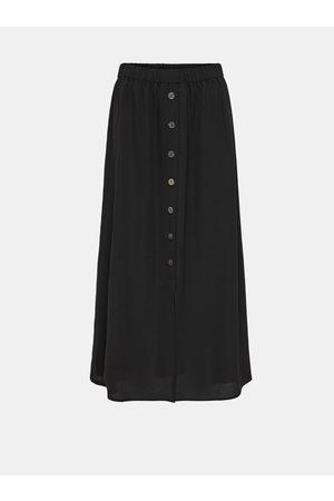 ONLY Černá maxi sukně s knoflíky Nova