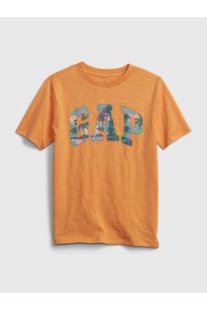 GAP Oranžové klučičí dětské tričko Logo t-shirt