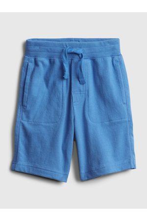 GAP Modré klučičí dětské kraťasy 100% organic cotton mix and match pull-on shorts
