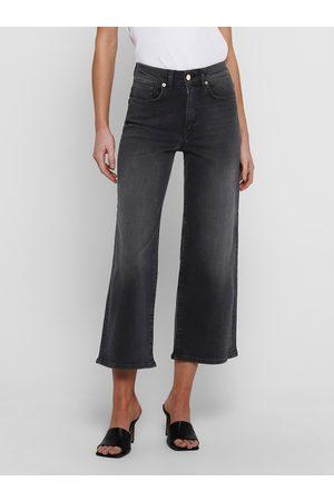 ONLY Černé široké džíny -Madison