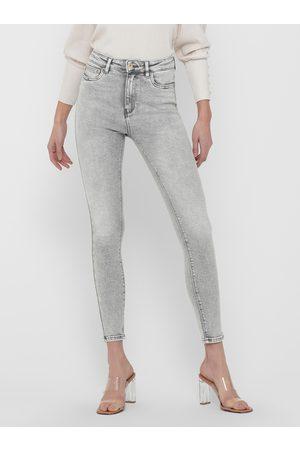 ONLY Světle šedé skinny fit džíny Mila
