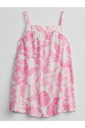 GAP Bílé holčičí baby šaty floral dress