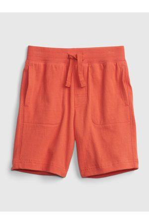 GAP Chlapci Kraťasy - Červené klučičí dětské kraťasy 100% organic cotton mix and match pull-on shorts