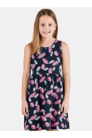 sam 73 Tmavě modré holčičí vzorované šaty