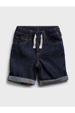 GAP Modré klučičí dětské džínové kraťasy pull-on denim shorts