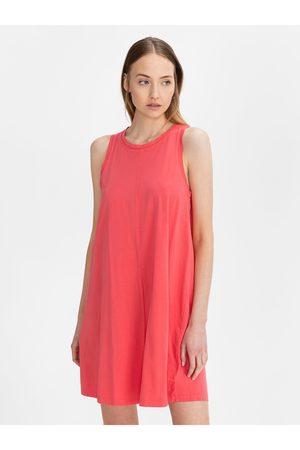 GAP Červené dámské šaty sleeveless swing dress