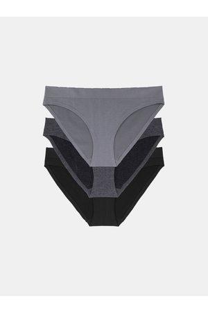 Dorina Sada tří kalhotek v černé a šedé barvě