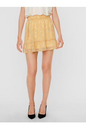 VERO MODA Žlutá vzorovaná sukně Lucia
