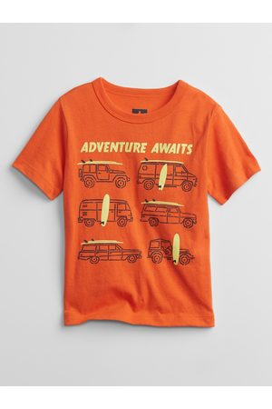 GAP Oranžové klučičí dětské tričko mix and match graphic t-shirt