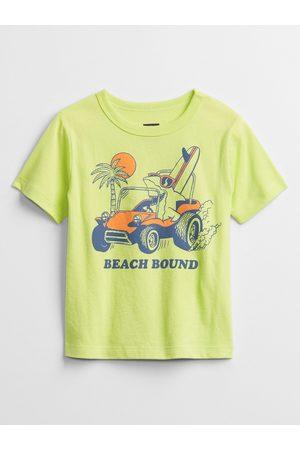 GAP Zelené klučičí dětské tričko mix and match graphic t-shirt