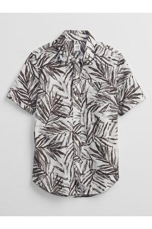 GAP Barevná klučičí dětská košile poplin shirt