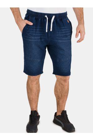 sam 73 Tmavě modré pánské džínové kraťasy