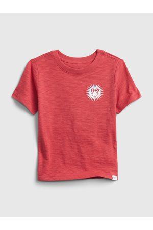 GAP Červené klučičí dětské tričko short sleeve graphic t-shirt