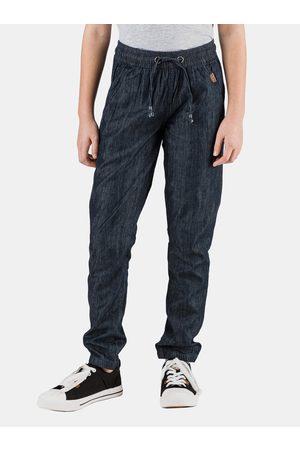 sam 73 Tmavě modré holčičí vzorované kalhoty