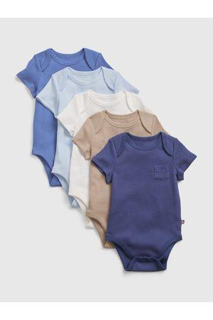 GAP Barevné holčičí baby body 100% organic cotton bodysuit, 5 ks