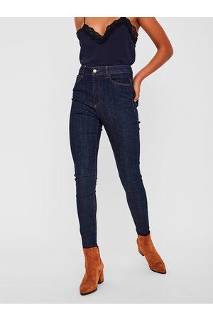 VERO MODA Tmavě modré skinny fit džíny Sophia