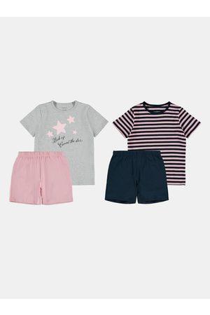 NAME IT Sada dvou holčičích pyžam v modré a růžové barvě Stars