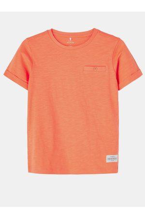 NAME IT Oranžové klučičí tričko s kapsou Vincent