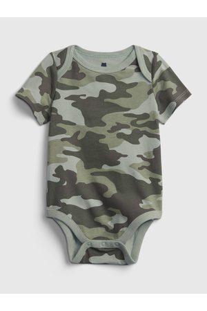 GAP Zelené klučičí baby body organic cotton mix and match print bodysuit