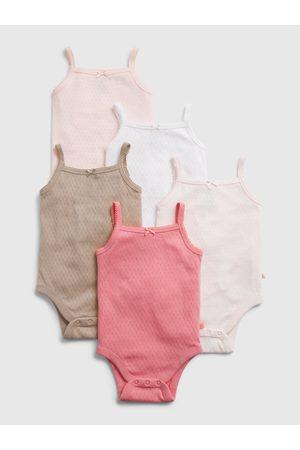 GAP Barevné holčičí baby body suit, 5ks