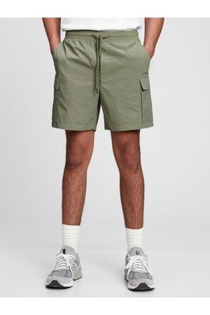 GAP Zelené pánské kraťasy easy cargo shorts