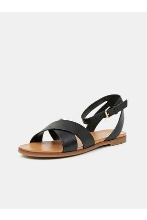 Aldo Černé dámské kožené sandály Wialia