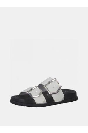 Tamaris Bílé pantofle