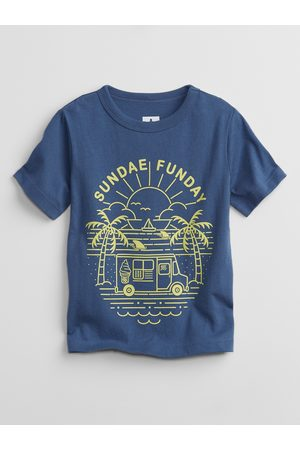 GAP Chlapci S krátkým rukávem - Modré klučičí dětské tričko mix and match graphic t-shirt