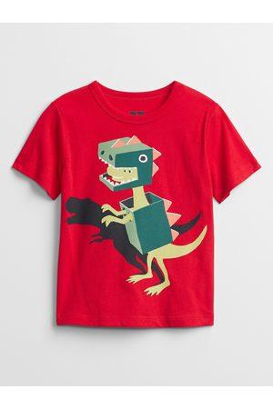 GAP Chlapci S krátkým rukávem - Červené klučičí dětské tričko mix and match graphic t-shirt