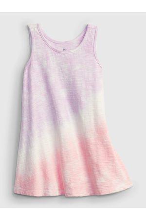 GAP Růžové holčičí dětské šaty tie-dye tank dress