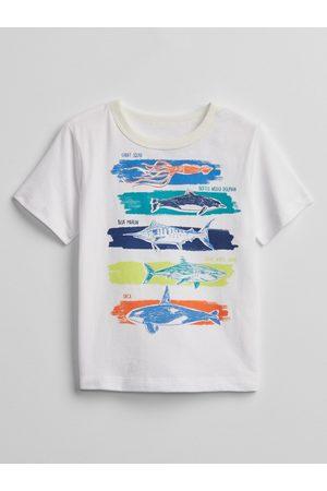 GAP Bílé klučičí dětské tričko mix and match graphic t-shirt