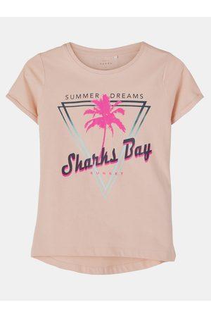 NAME IT Růžové holčičí tričko s potiskem Vix