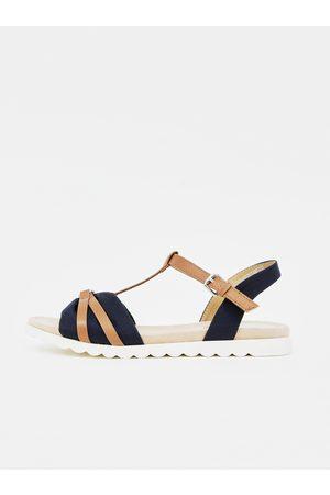 TOM TAILOR Hnědo-modré dámské sandály