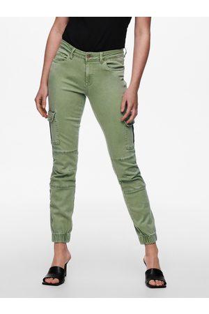 ONLY Světle zelené skinny fit džíny Missouri