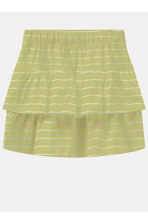 NAME IT Dívky Sukně - Žlutá holčičí pruhovaná sukně Vamaja
