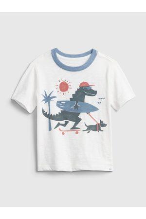 GAP Chlapci S krátkým rukávem - Bílé klučičí dětské tričko short sleeve graphic t-shirt