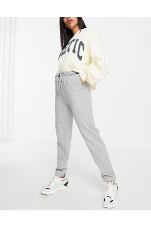 Brave Soul Krista high waisted joggers-Grey
