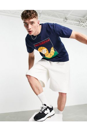 New Balance Basketball graphic t-shirt in navy