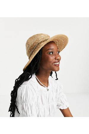 South Beach Fedora hat in natural straw-Neutral