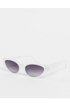 AJ Morgan Pants On Fire womens cat eye sunglasses in white marble