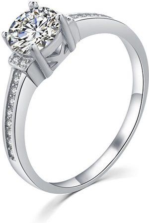 MOISS Elegantní stříbrný prsten s čirými zirkony R00006 49 mm