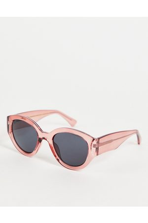 A. Kjærbede Big Winnie womens oversized round sunglasses in red