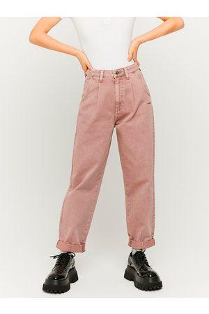 Tally Weijl Světle růžové zkrácené mom džíny