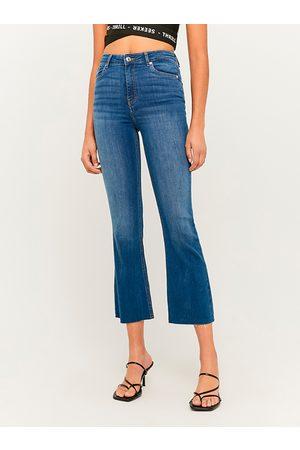 Tally Weijl Tmavě modré zkrácené flared fit džíny