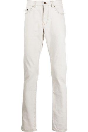 Saint Laurent Muži Slim - Slim fit contrast stitch jeans