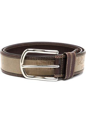 Prada Ženy Pásky - Logo-woven contrast-stitch belt