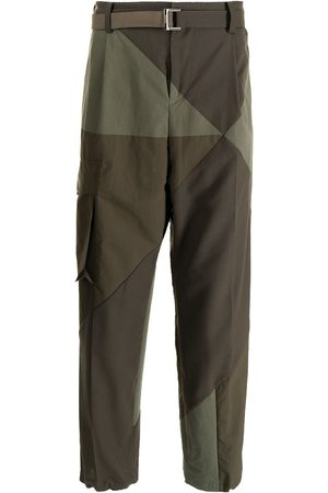 SACAI Panelled straight cargo trousers